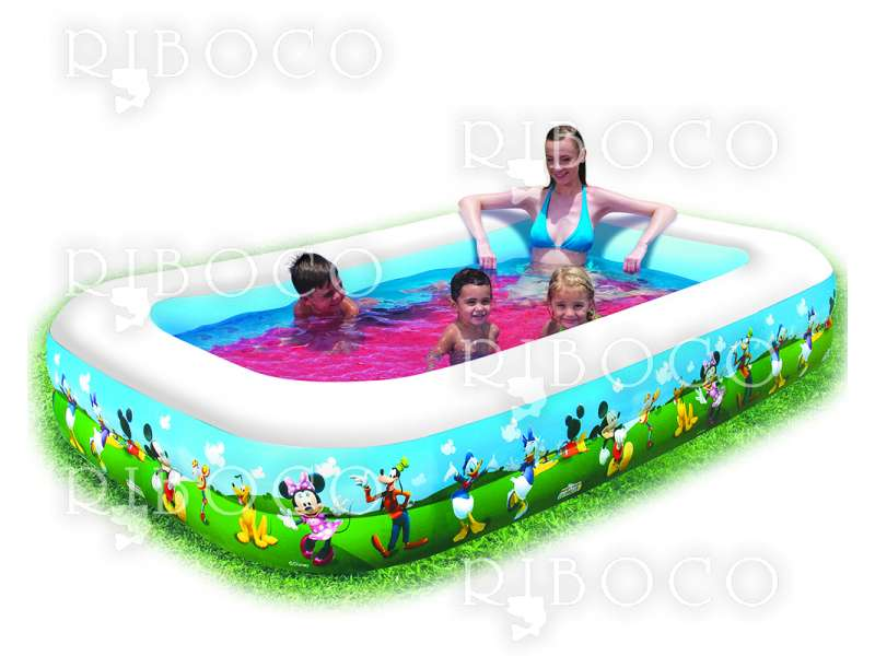 Надуваем басейн Bestway 91008 262 cm x 175 cm 778 L Multicolor Vinyl pool
