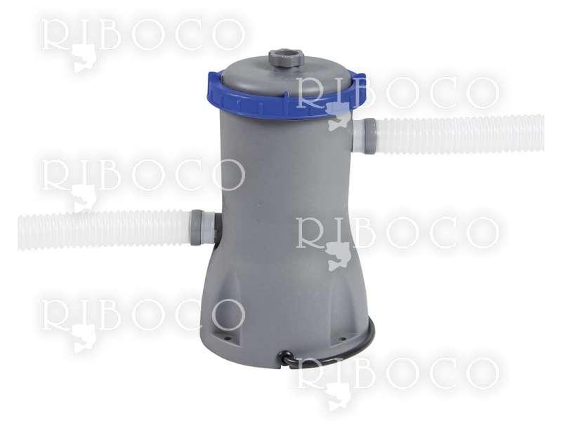 Bestway 56448 Power Steel Oval 488 cm x 305 cm x 107 cm, Grey/Blue 10949 L