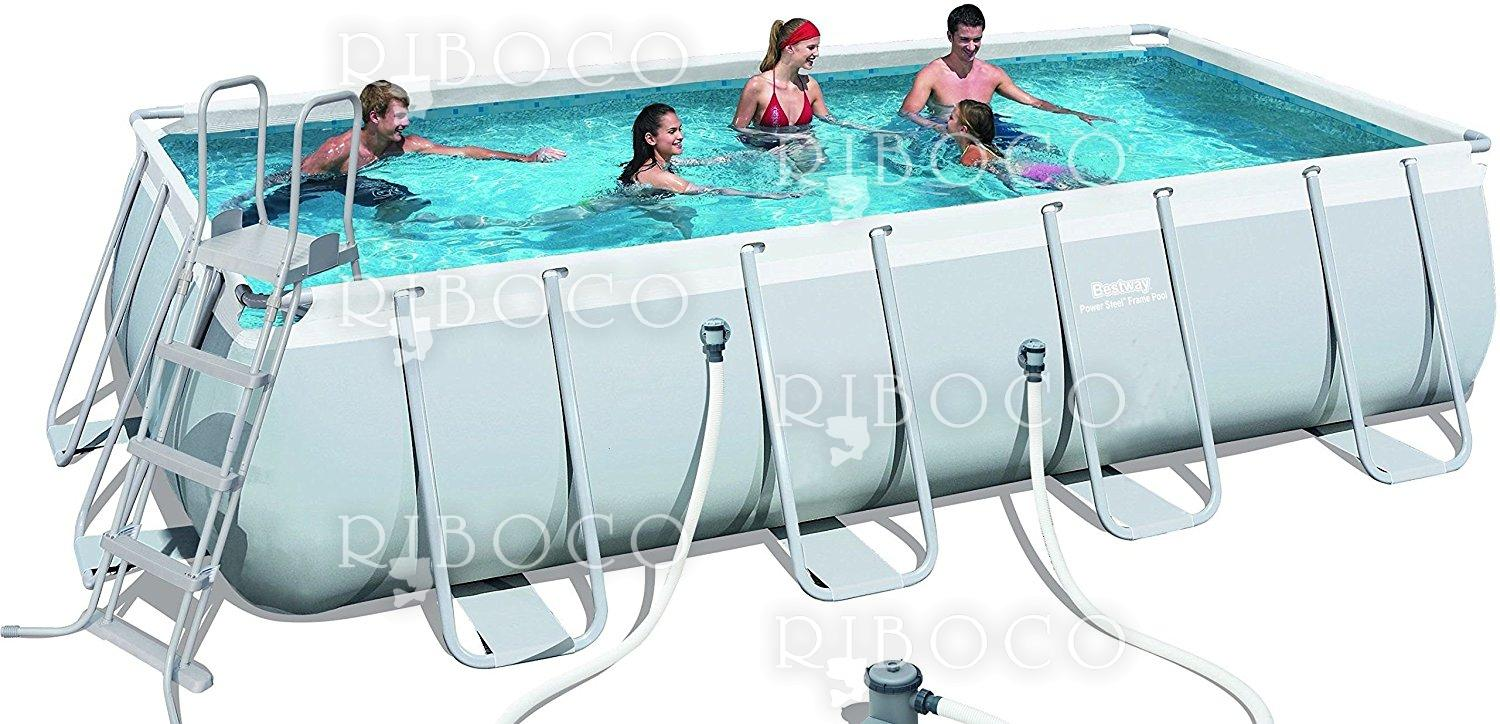 Bestway 56465 Power Steel Rectangular Frame Pool Model 549x274x122 cm