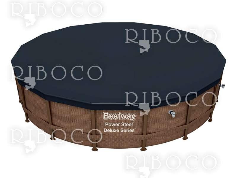 Bestway 56666 d 488 cm x 122 cm надземен басейн с рамка Кръгъл 13030 L Кафяв