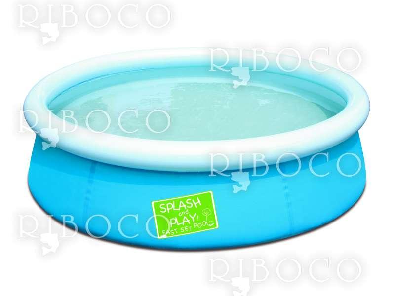 Надуваем басейн Bestway Fast Set 57241 152 cm x 38 cm Inflatable pool 477L Blue,Green,Orange above ground pool