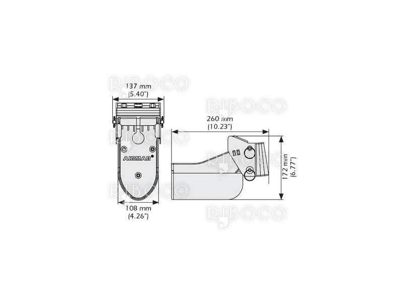 Пластмасова сонда за транец Garmin с дълбочина и температура Airmar TM265LM