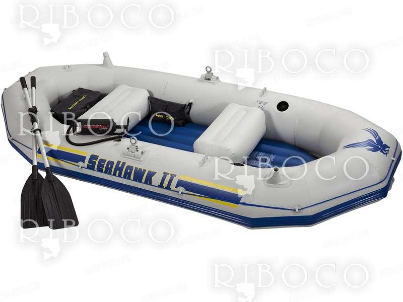 Надуваема моторна лодка Intex Seahawk II