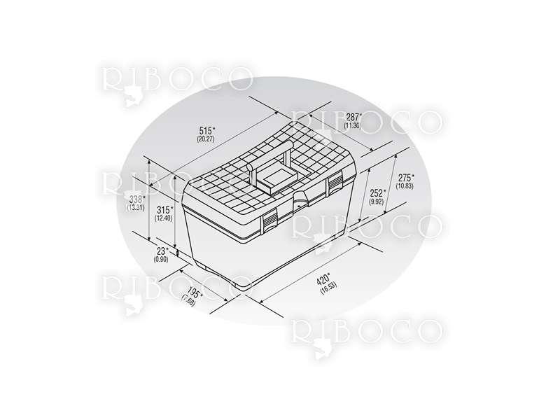 Куфар-стол Plastica Panaro 159