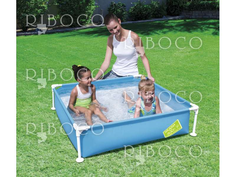 Сглобяем басейн Bestway 56217 122 cm x 122 cm x 30.5 cm Steel Pro My First Frame Pool