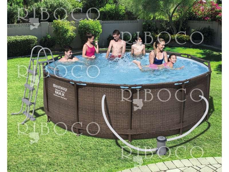 Сглобяем басейн Bestway 56709 d 366 cm x 100 cm Framed pool Round Brown