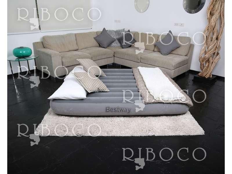 Надуваем матрак Bestway 67540 191 cm x 131 cm x 25 cm Double mattress Grey