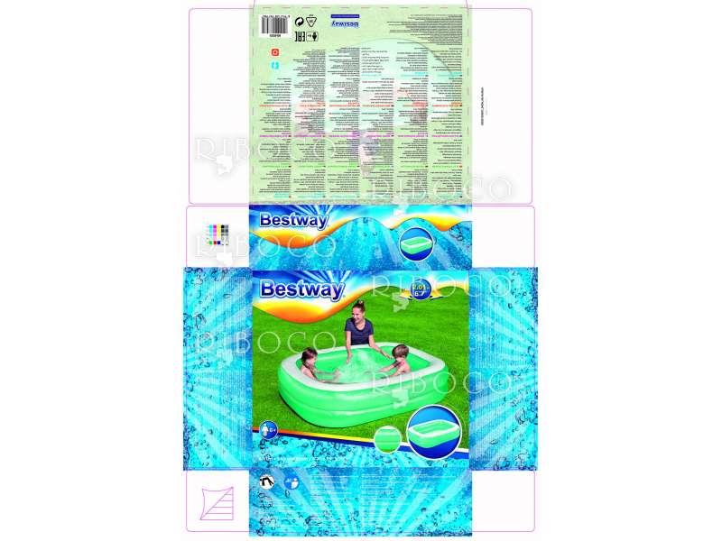 Надуваем басейн Bestway 54005 201 cm x 150 cm x 51 cm