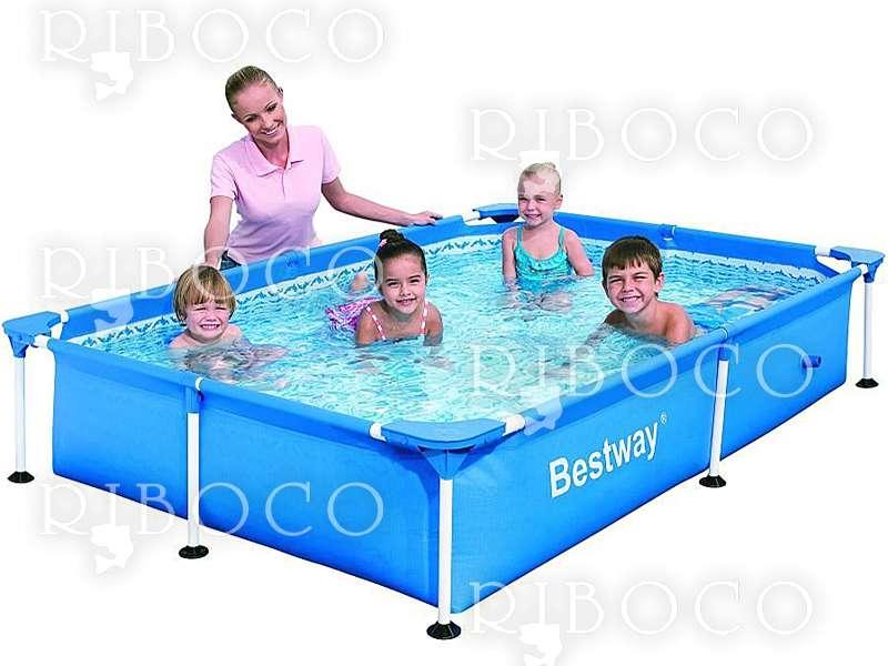 Сглобяем басейн Bestway 56401/56040 Splash Jr. Frame 221 x 150 x 43 cm