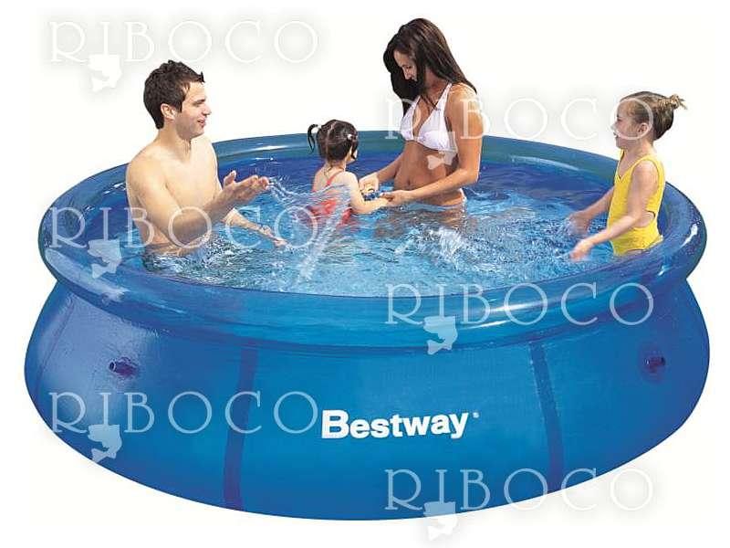 Надуваем басейн Bestway 57265 d244 x 66 cm