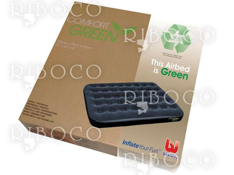 Надуваем матрак Bestway Single Comfort Green 67379 185 cm x 76 cm x 22 cm