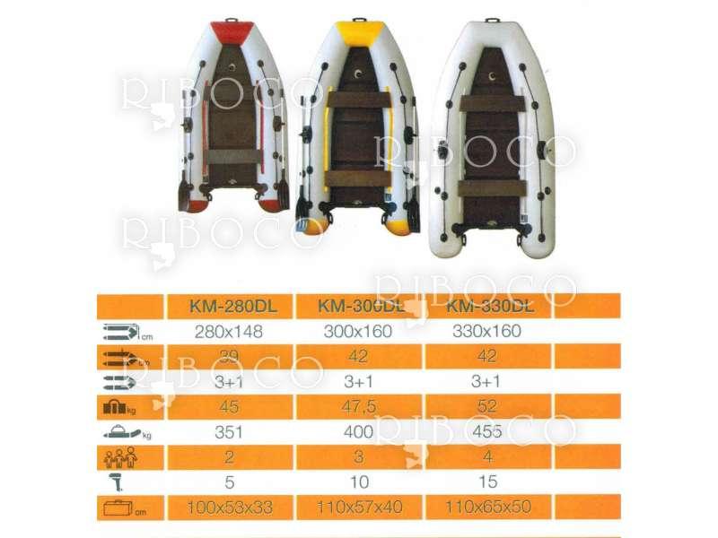 Надуваема моторна лодка с кил серия Лайт - Light Kolibri KM-280DLT, KM-300DLT, KM-330DLT