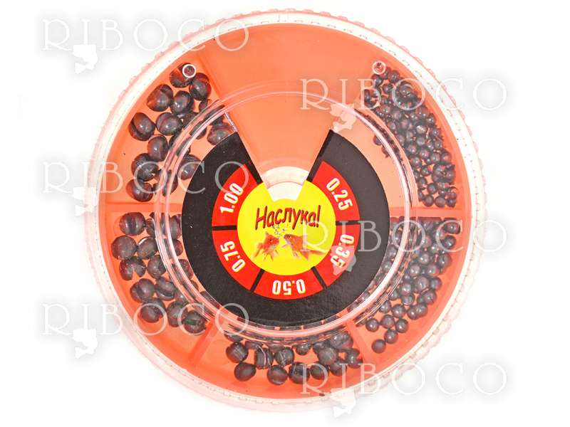 Риболовни тежести Наслука оранжева кутия - 100 g