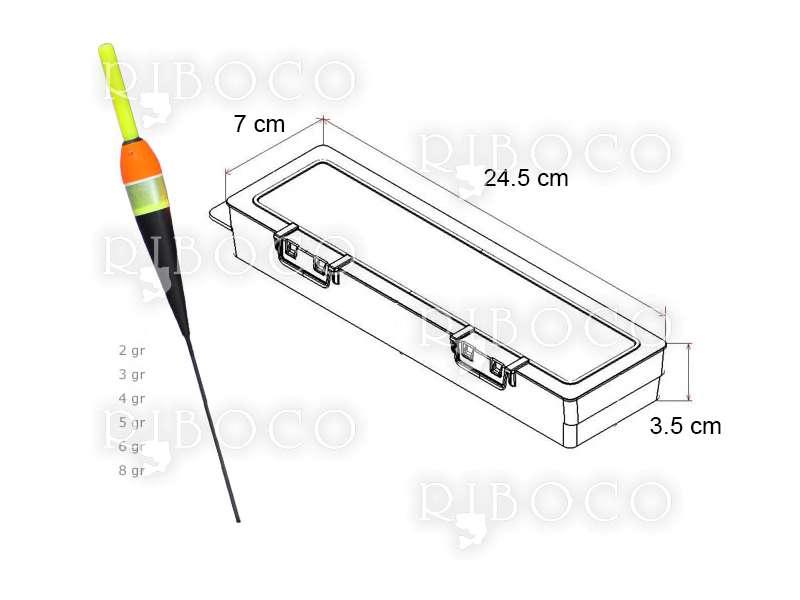 Плувки Eagle Eye C4 - 10 бр + подарък кутия за плувки Plastica Panaro F2
