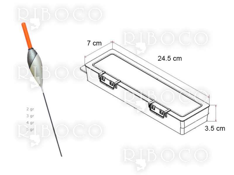 Плувки Eagle Eye C6 - 10 бр + подарък кутия за плувки Plastica Panaro F2