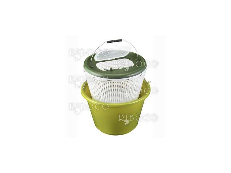 Рибарска кофа Plastica Panaro 116 - 18 L маслено зелена