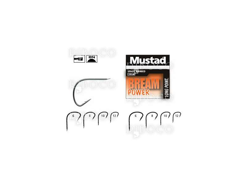 Риболовни куки Mustad Long Point BREAM POWER 10027BLN