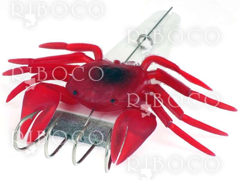 Силиконов рак за риболов на октоподи с 4 куки