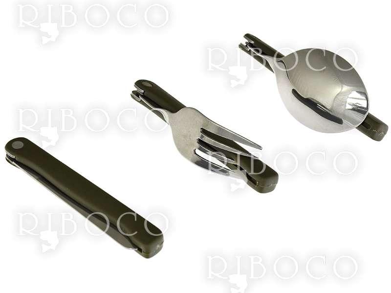 Комплект сгъваеми нож, вилица и лъжица