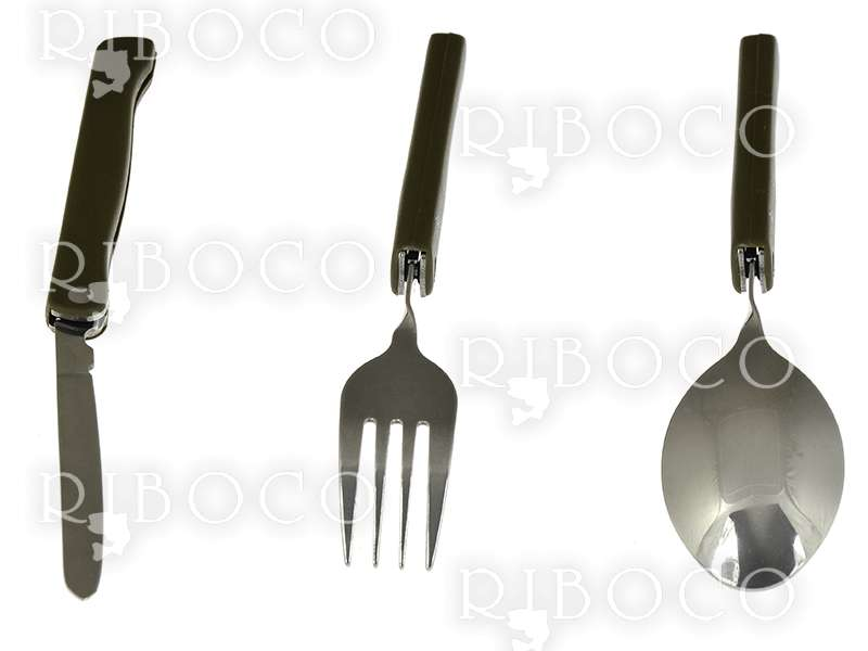 Set folding knife, fork and spoon