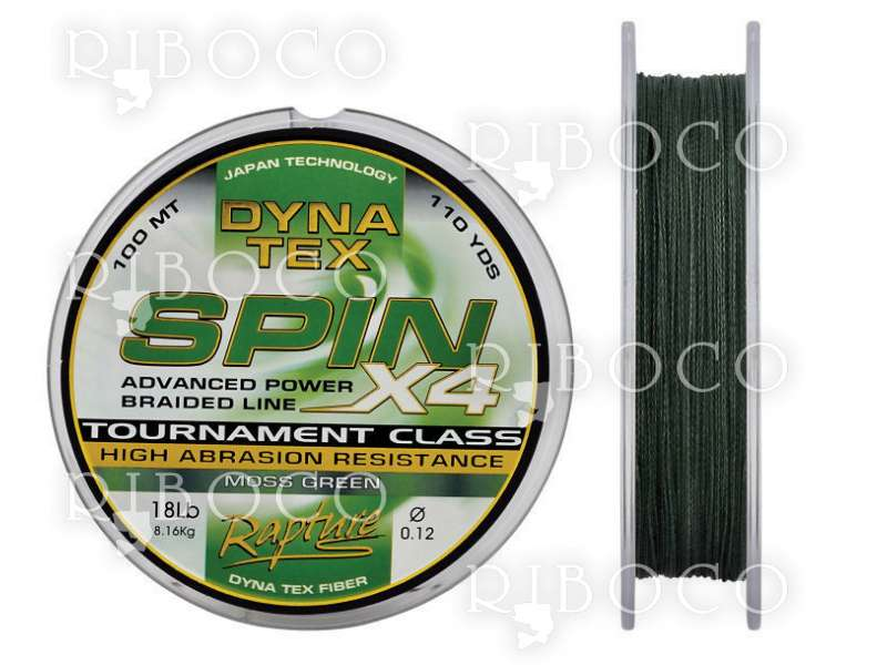 Плетено влакно RAPTURE DYNA TEX SPIN X4 MOSS GREEN 100 m