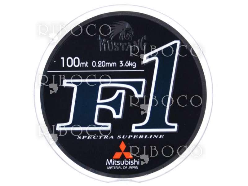 Риболовно влакно Mitsubishi Mustang F1 100 m черно