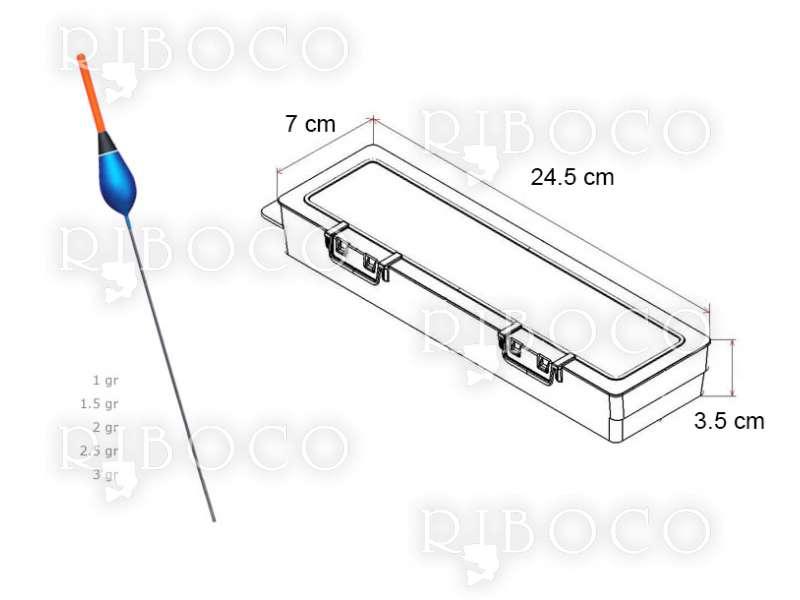 Плувки Eagle Eye A3  - 10 бр + подарък кутия за плувки Plastica Panaro F2