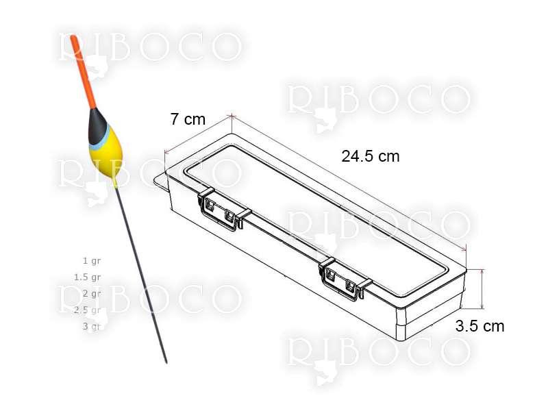 Плувки Eagle Eye A4 - 10 бр + подарък кутия за плувки Plastica Panaro F2