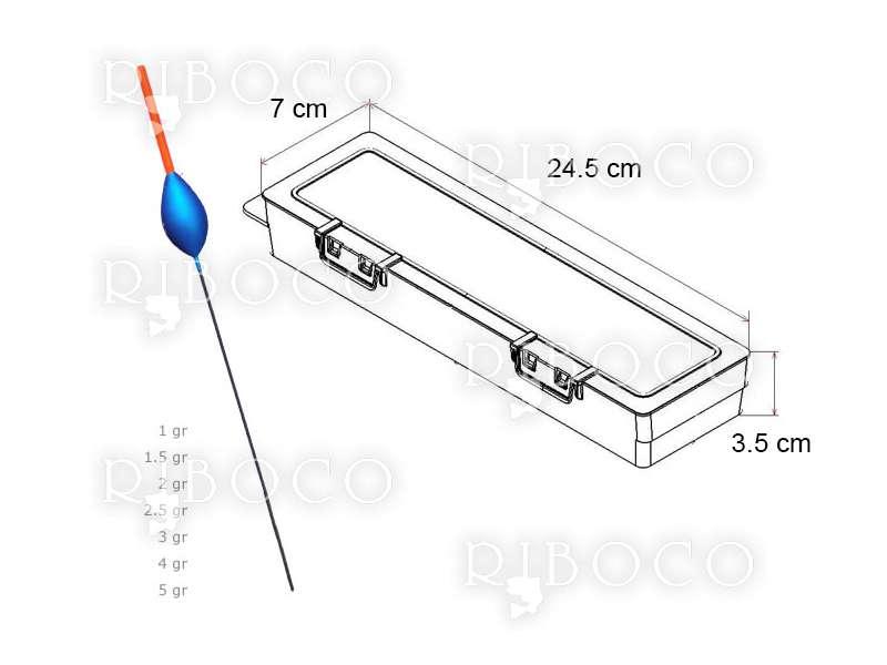 Риболовни плувки Eagle Eye A7 - 10 бр + подарък кутия за плувки Plastica Panaro F2