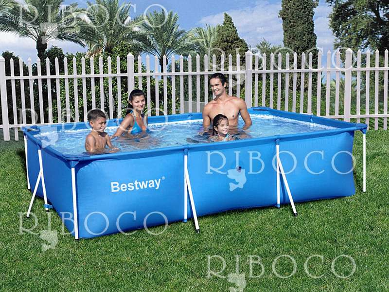 Bestway 56043 rectangular deluxe splash frame pool for Splash pool show quebec