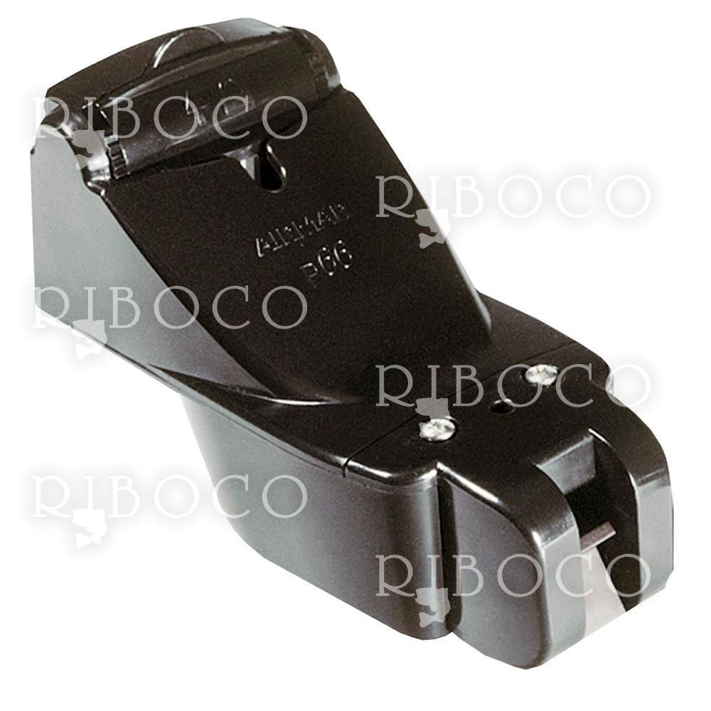 Plastic Transom Mount Transducer with Depth, Speed and Temperature (Triducer, 8-pin) - Airmar P66